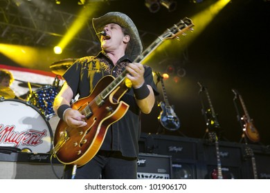 LOS ANGELES, CA - MAY 06: Ted Nugent performs at the Greek Theatre on May 6, 2012 in Los Angeles, CA.