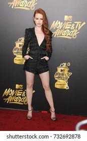 LOS ANGELES, CA - May 07, 2017: Madelaine Petsch at the 2017 MTV Movie & TV Awards at the Shrine Auditorium