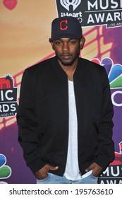 LOS ANGELES, CA - MAY 1, 2014: Kendrick Lamar at the 2014 iHeartRadio Music Awards at the Shrine Auditorium, Los Angeles.
