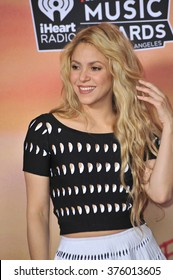 LOS ANGELES, CA - MAY 1, 2014: Shakira at the 2014 iHeartRadio Music Awards at the Shrine Auditorium, Los Angeles.