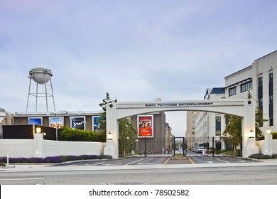 LOS ANGELES, CA - MAY 13: The Culver City main gate of Sony Pictures Entertainment on May 13, 2011 in Los Angeles.  The studio lot contains the iconic former MGM Studios and Columbia Pictures.