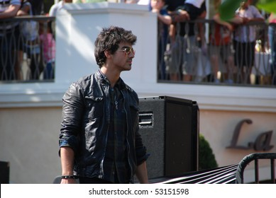LOS ANGELES, CA- MAY 15: Joe Jonas performs at The Jonas Brothers summer tour kickoff at The Grove on May 15, 2010 in Los Angeles, California.