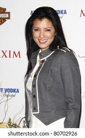 LOS ANGELES, CA - MAY 19: Kelly Hu arrives at the 11th annual Maxim Hot 100 Party at Paramount Studios on May 19, 2010 in Los Angeles, California