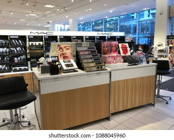 Los Angeles, CA: May 2, 2018:  : Interior of a Nordstrom store in Los Angeles. Nordstrom is a fashion retailer.