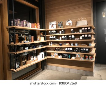 Los Angeles, CA: May 6, 2018:  Starbucks Reserve in Los Angeles Starbucks has plans to open several hundred Starbucks Reserve stores in the world.