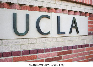 Los Angeles, CA: May 7, 2017: UCLA sign at the University of California, Los Angeles. UCLA is a public university located in the Los Angeles area.