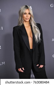 LOS ANGELES, CA - November 04, 2017: Kim Kardashian at the 2017 LACMA Art+Film Gala at the Los Angeles County Museum of Art,