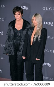 LOS ANGELES, CA - November 04, 2017: Kris Jenner & Kim Kardashian at the 2017 LACMA Art+Film Gala at the Los Angeles County Museum of Art,