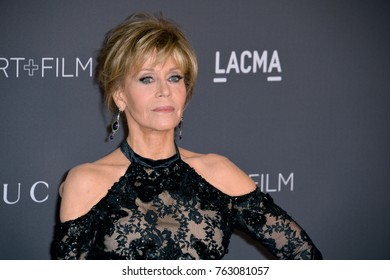 LOS ANGELES, CA - November 04, 2017: Jane Fonda at the 2017 LACMA Art+Film Gala at the Los Angeles County Museum of Art,