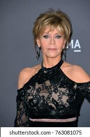 LOS ANGELES, CA - November 04, 2017: Jane Fonda at the 2017 LACMA Art+Film Gala at the Los Angeles County Museum of Art,
