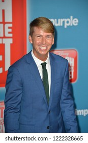 "LOS ANGELES, CA. November 05, 2018: Jack McBrayer at the world premiere of ""Ralph Breaks The Internet"" at the El Capitan Theatre.