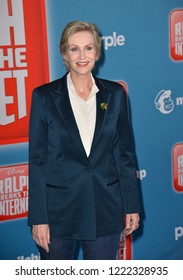 "LOS ANGELES, CA. November 05, 2018: Jane Lynch at the world premiere of ""Ralph Breaks The Internet"" at the El Capitan Theatre.