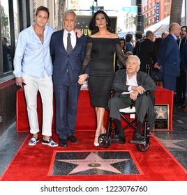 LOS ANGELES, CA. November 06, 2018: Michael Douglas, Kirk Douglas, Catherine Zeta-Jones & Cameron Douglas at Hollywood Walk of Fame Star Ceremony for Michael Douglas.
