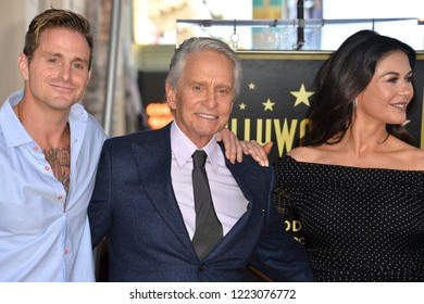 LOS ANGELES, CA. November 06, 2018: Cameron Douglas, Michael Douglas & Catherine Zeta-Jones at the Hollywood Walk of Fame Star Ceremony honoring actor Michael Douglas