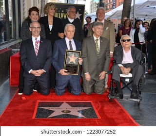 LOS ANGELES, CA. November 06, 2018: Michael Douglas, Kirk Douglas, Jane Fonda, Ron Meyer, Mitch O'Farrell, Leron Gubler & Donelle Dadigan at the Walk of Fame Star Ceremony for Michael Douglas