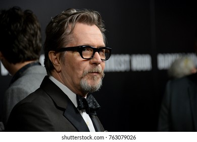"LOS ANGELES, CA - November 08, 2017: Gary Oldman at the premiere for ""Darkest Hour"" at the Samuel Goldwyn Theatre"