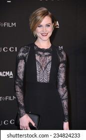 LOS ANGELES, CA - NOVEMBER 1, 2014: Evan Rachel Wood at the 2014 LACMA Art+Film Gala at the Los Angeles County Museum of Art.