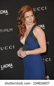 LOS ANGELES, CA - NOVEMBER 1, 2014: Amy Adams at the 2014 LACMA Art+Film Gala at the Los Angeles County Museum of Art.