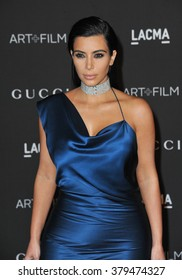 LOS ANGELES, CA - NOVEMBER 1, 2014: Kim Kardashian at the 2014 LACMA Art+Film Gala at the Los Angeles County Museum of Art.