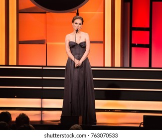 LOS ANGELES, CA - November 10, 2017: Natalie Portman at the American Cinematheque 2017 Award Show at the Beverly Hilton Hotel