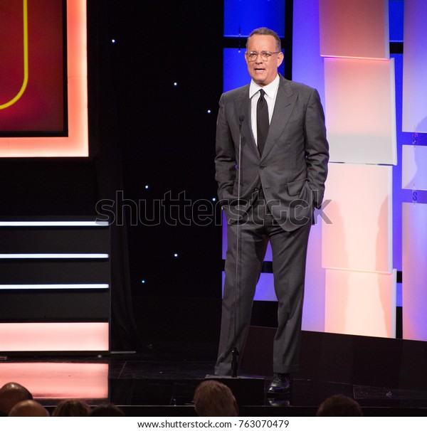 LOS ANGELES, CA - November 10, 2017: Tom Hanks at the American Cinematheque 2017 Award Show at the Beverly Hilton Hotel
