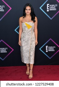 LOS ANGELES, CA. November 11, 2018: Camila Mendes at the E! People's Choice Awards 2018 at Barker Hangar, Santa Monica Airport.