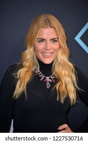 LOS ANGELES, CA. November 11, 2018: Busy Philipps at the E! People's Choice Awards 2018 at Barker Hangar, Santa Monica Airport.