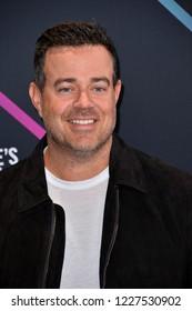 LOS ANGELES, CA. November 11, 2018: Carson Daly at the E! People's Choice Awards 2018 at Barker Hangar, Santa Monica Airport.