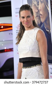 """LOS ANGELES, CA - NOVEMBER 11, 2014: Hilary Swank at the gala screening of her movie """"The Homesman"""" as part of the AFI Fest 2014 at the Dolby Theatre, Hollywood."""