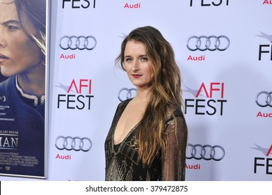 """LOS ANGELES, CA - NOVEMBER 11, 2014: Grace Gummer at the gala screening of her movie """"The Homesman"""" as part of the AFI Fest 2014 at the Dolby Theatre, Hollywood."""