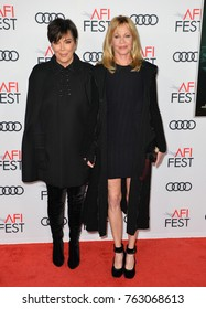 "LOS ANGELES, CA - November 12, 2017: Kris Jenner & Melanie Griffith at the AFI Fest premiere for ""The Disaster Artist"" at the TCL Chinese Theatre"