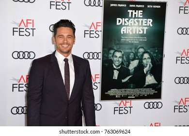 "LOS ANGELES, CA - November 12, 2017: James Franco at the AFI Fest premiere for ""The Disaster Artist"" at the TCL Chinese Theatre"