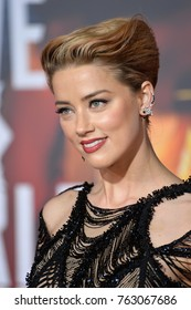 """LOS ANGELES, CA - November 13, 2017: Amber Heard at the world premiere for """"Justice League"""" at The Dolby Theatre, Hollywood"""