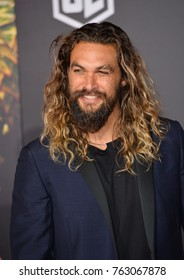 "LOS ANGELES, CA - November 13, 2017: Jason Momoa at the world premiere for ""Justice League"" at The Dolby Theatre, Hollywood"