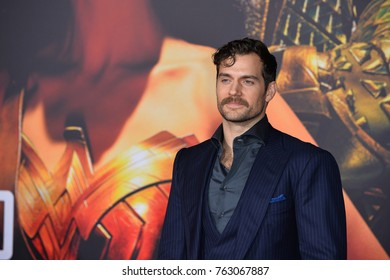 "LOS ANGELES, CA - November 13, 2017: Henry Cavill at the world premiere for ""Justice League"" at The Dolby Theatre, Hollywood"