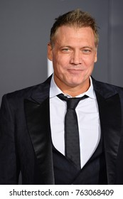 """LOS ANGELES, CA - November 13, 2017: Holt McCallany at the world premiere for """"Justice League"""" at The Dolby Theatre, Hollywood"""