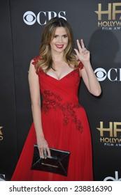 LOS ANGELES, CA - NOVEMBER 14, 2014: Carly Steel at the 2014 Hollywood Film Awards at the Hollywood Palladium.