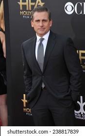 LOS ANGELES, CA - NOVEMBER 14, 2014: Steve Carell at the 2014 Hollywood Film Awards at the Hollywood Palladium.