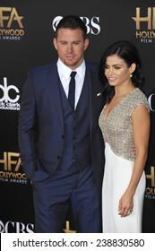 LOS ANGELES, CA - NOVEMBER 14, 2014: Channing Tatum & Jenna Dewan-Tatum at the 2014 Hollywood Film Awards at the Hollywood Palladium.