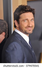 LOS ANGELES, CA - NOVEMBER 14, 2014: Gerard Butler at the 2014 Hollywood Film Awards at the Hollywood Palladium.