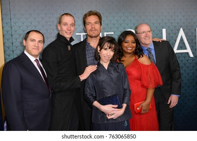 "LOS ANGELES, CA - November 15, 2017: Michael Stuhlbarg, Doug Jones, Michael Shannon, Sally Hawkins & Richard Jenkins at the Los Angeles premiere of ""The Shape of Water"""