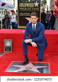 LOS ANGELES, CA. November 16, 2018: Michael Buble at the Hollywood Walk of Fame Star Ceremony honoring singer Michael Bublé.Pictures: Paul Smith/Featureflash