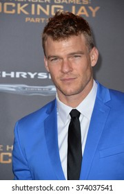 """LOS ANGELES, CA - NOVEMBER 16, 2015: Actor Alan Ritchson at the Los Angeles premiere of  """"The Hunger Games: Mockingjay - Part 2"""" at the Microsoft Theatre, LA Live."""