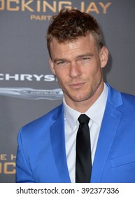 """LOS ANGELES, CA - NOVEMBER 16, 2015: Actor Alan Ritchson at the premiere of   """"The Hunger Games: Mockingjay - Part 2"""""""