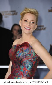 "LOS ANGELES, CA - NOVEMBER 17, 2014: Elizabeth Banks at the Los Angeles premiere of her movie ""The Hunger Games: Mockingjay Part One"" at the Nokia Theatre LA Live."