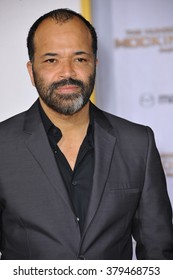"""LOS ANGELES, CA - NOVEMBER 17, 2014: Jeffrey Wright at the Los Angeles premiere of his movie """"The Hunger Games: Mockingjay Part One"""" at the Nokia Theatre LA Live."""