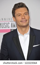 LOS ANGELES, CA - NOVEMBER 18, 2012: Ryan Seacrest at the 40th Anniversary American Music Awards at the Nokia Theatre LA Live.
