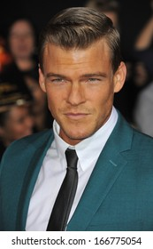 "LOS ANGELES, CA - NOVEMBER 18, 2013: Alan Ritchson at the US premiere of his movie ""The Hunger Games: Catching Fire"" at the Nokia Theatre LA Live."
