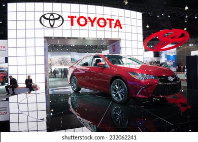 Los Angeles, CA - November 19, 2014: Toyota Camry 2015  on display at the LA  Auto Show