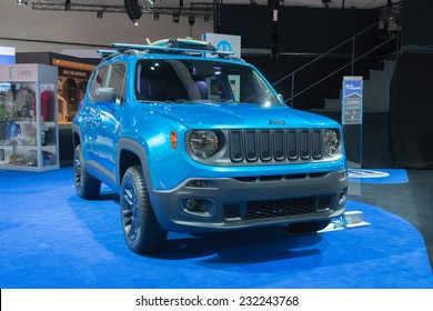 Los Angeles, CA - November 19, 2014: Jeep Renegade Riptide 2015 on displayon display at the LA Auto Show